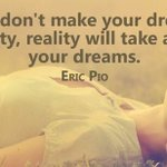 Image for the Tweet beginning: Are you making your dreams