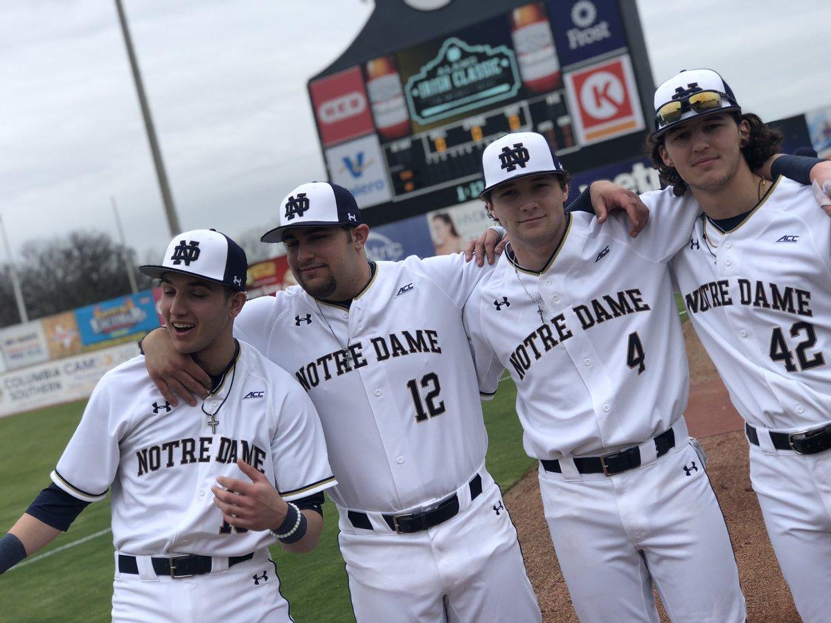 brand new 06fa1 e60f7 Notre Dame Baseball on Twitter: