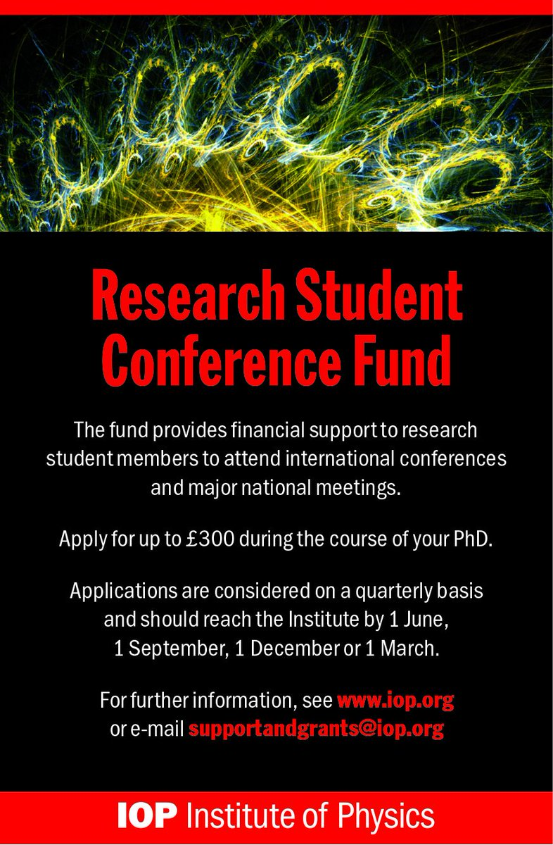 IOP members-are you a research student or early career physicist? Looking at conferences to attend this year? Apply by 1 March for our RSCF and ECRF bursaries to get up to £300 to help you attend conferences to broaden your research reach! Find out more 👇 👩⚕️👨⚕️💰