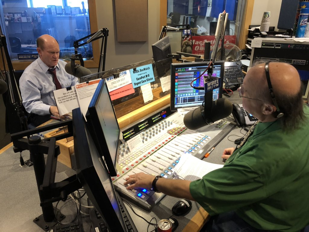 Happy to join @WDEL and @LoudellWDEL to talk foreign policy and upcoming town hall. Tune in now!