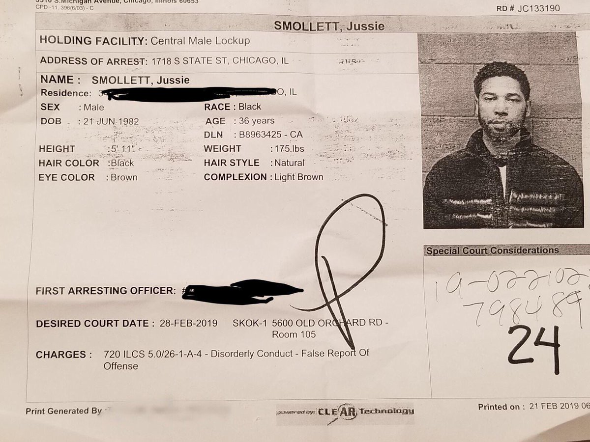 Here's a real racist:                 @JussieSmollett.   (credit Marissa Bailey    and Nick Monroe)