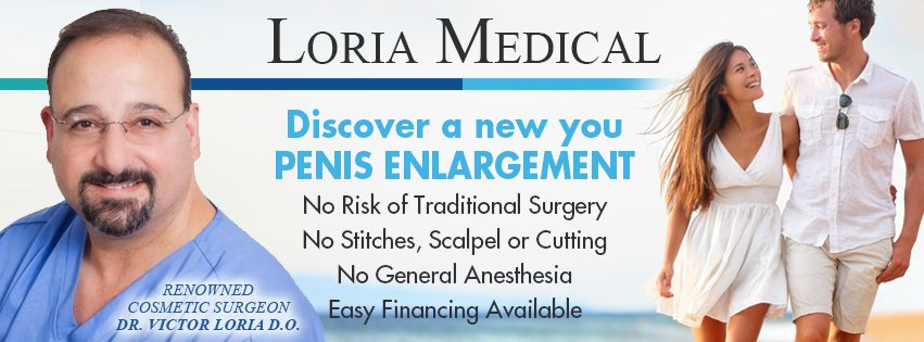 Get VIP treatment and boost your self-esteem with help from Loria Medical. If you are trying to find a solution for #ED or increase the size of your #manhood, then Loria Medical is your answer! Learn more today! http://www.loriamedical.com  Call 877-375-6742.  #sponsored