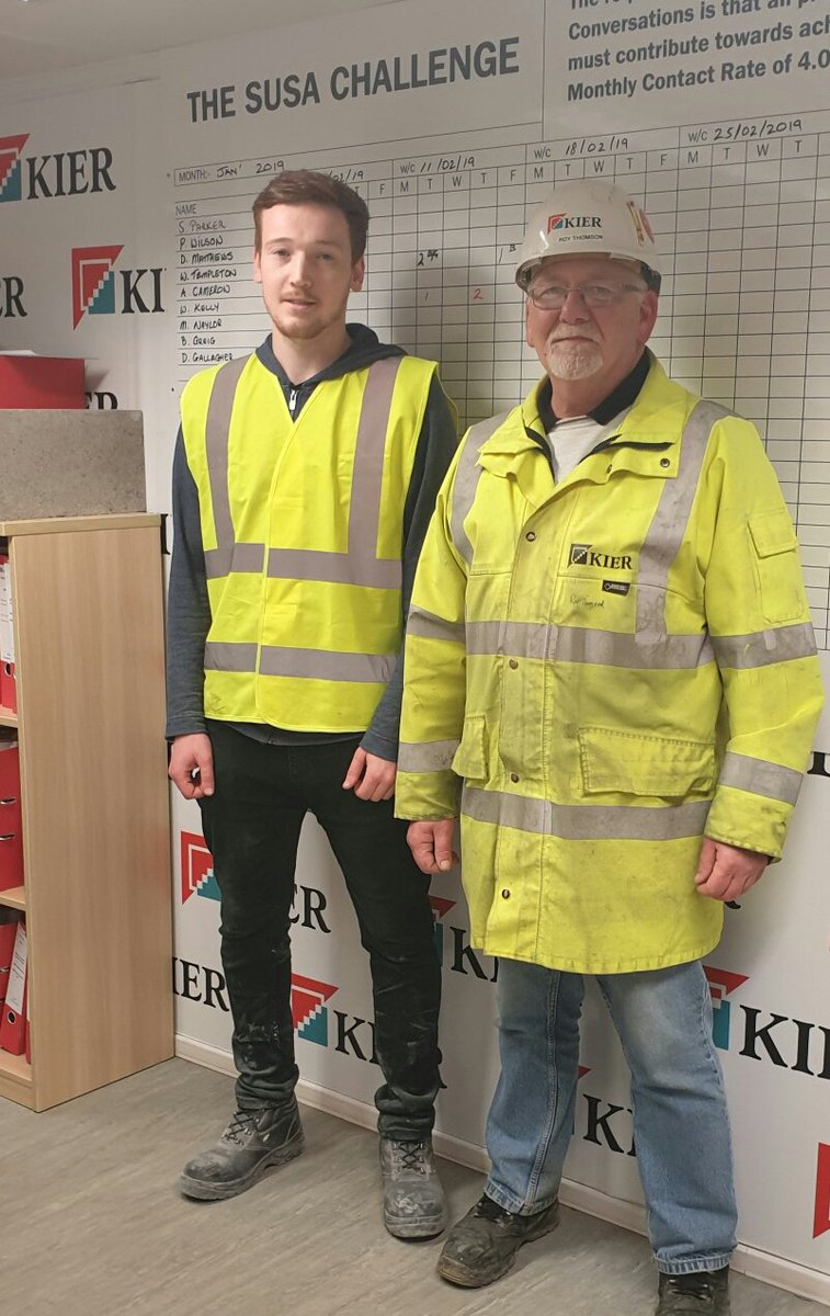 Tom from Lowland Training has been working alongside Kier at our Queen Margaret Academy project to gain experience of construction #kierscot