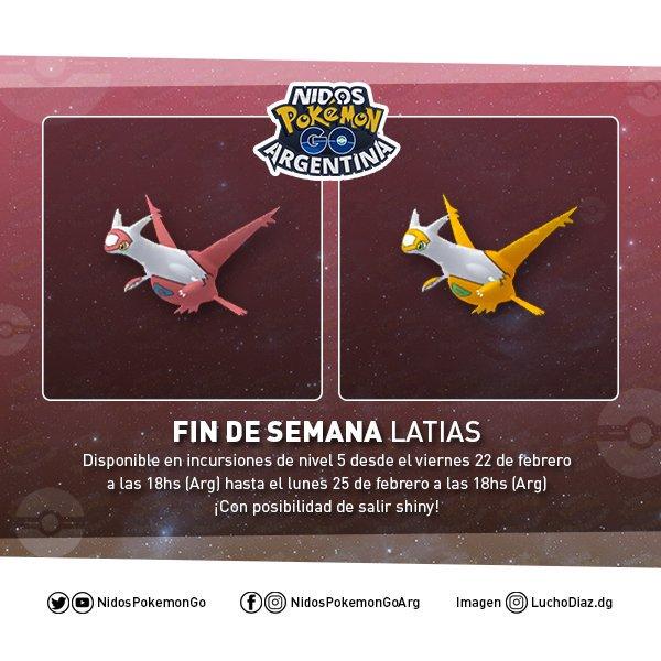 Imagen de Latias shiny hecho por Nidos Pokémon GO Argentina