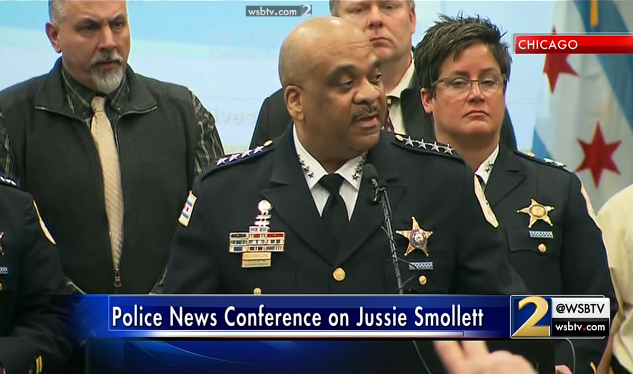 Chicago Police on Jussie Smollett: We have the check that Jussie sent the 2 brothers in the attack -- WATCH LIVE HERE:  https://t.co/S7bpyd80pH