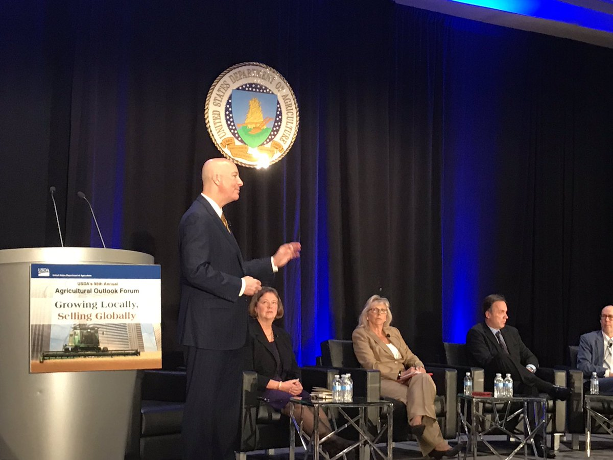 "#AgOutlook: Nebraska @GovRicketts, ""We have to allow for innovations to feed this growing world and to create jobs in our rural communities"""