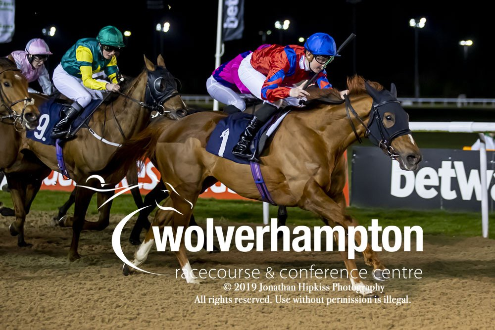 Marc Monaghan wins the final race from last nights meeting with AMERICAN ENDEAVOUR.   Well done to trainer @MarcoBotti and winning connections.   📸Pics by @WolvesRacesPics