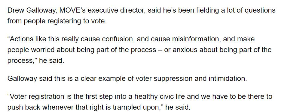 Voting rights' advocates in Texas are concerned about state officials' plans to purge voter rolls and are talking about the climate of anxiety and intimidation that reigns around the registration process. https://www.houstonpublicmedia.org/articles/news/texas/2019/02/20/322464/heres-why-voter-registration-groups-are-fighting-texas-attempted-voter-purge/…