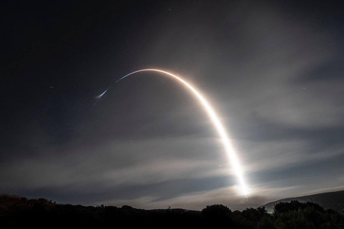 Falcon 9's first stage rocket booster launched twice last year to deliver the Iridium-7 and SAOCOM 1A payloads to orbit