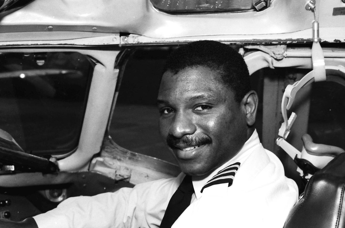 First Officer Aaron Gould co-piloted @UPSAirlines' first revenue flight on Feb. 1, 1988. Flight 880 was a DC-8 operating from Louisville to Milwaukee. #BlackHistoryMonth