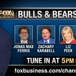 Tonight joining @DavidAsmanfox on @BullsBearsFBN we have @JonasFerris @zacharykarabell @lizpeek @MBlockTSA! Tune in at 5 PM ET to follow all the action!