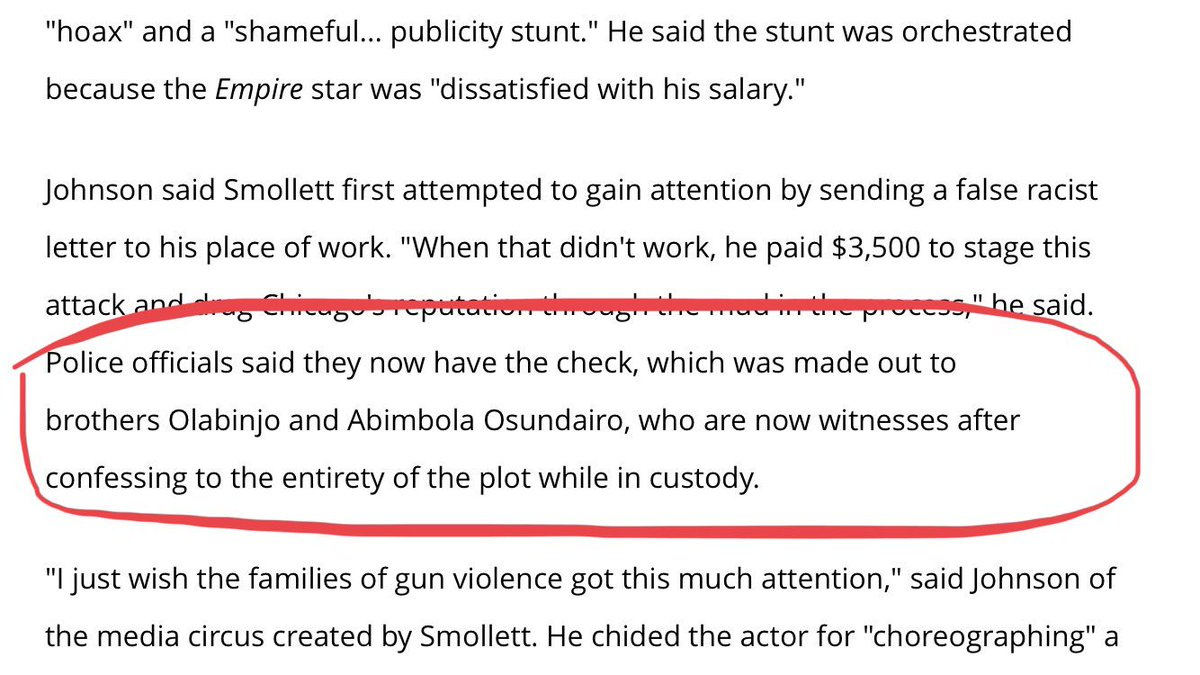 Pro-tip: If you're going to (allegedly) hire people to beat you up, pay cash, not check 😳   The #JussieSmollet story just gets more and more bonkers    https://t.co/Qx8O7x6i6Z