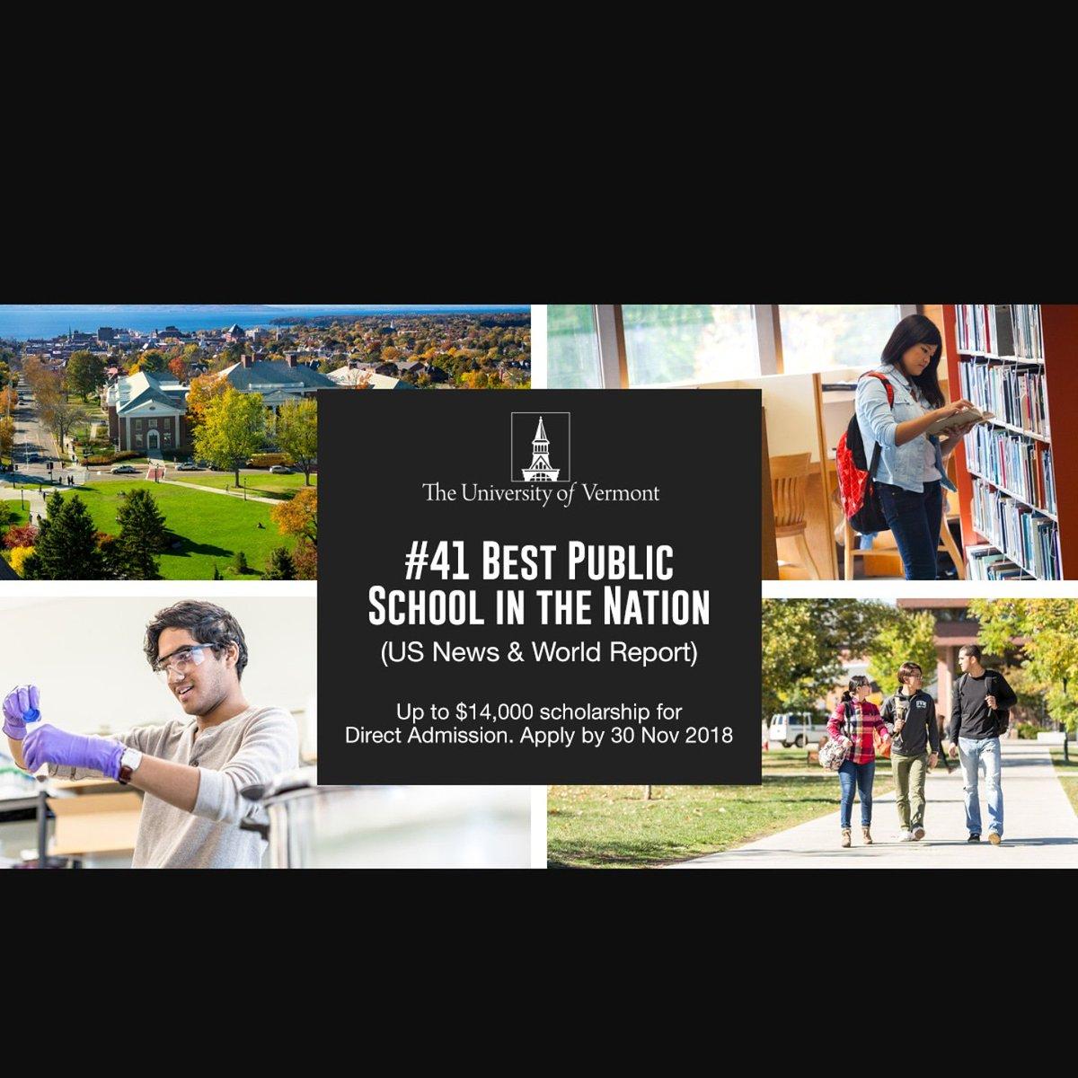 #UniversityOfVermont. Best public university in the nation! Contact us now for more information on #undergraduate and #graduate programs  #studyabroad #studyinUK #Studyvisa #studyinCanada #studyinUSA #ksa #saudi #arabia #iran #bahrain #qatar #morocco #egypt #kuwait #tunis #oman