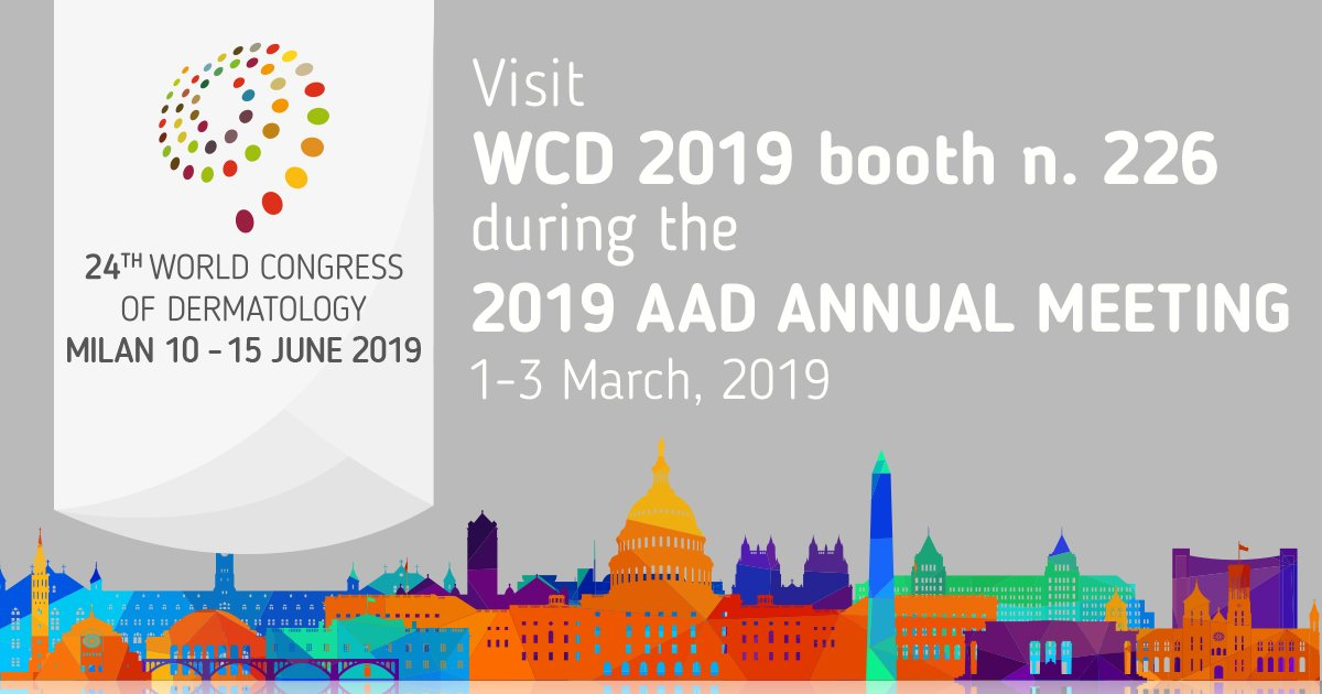 WCD 2019 Milan is attending the @AADmember 2019 Annual