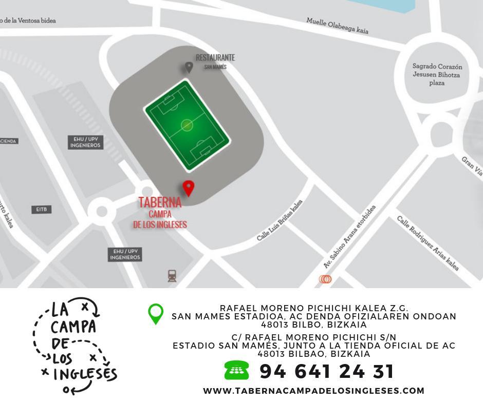 ☝🏼 ¡Ven a recuperar fuerzas a la Taberna @CampaIngleses! #Pintxos, raciones, #hamburguesas, menús... ¡y el mejor ambiente! ¡En tu córner en #SanMames! 👉🏼 https://buff.ly/2RXTKrC #restaurantes #Bilbao