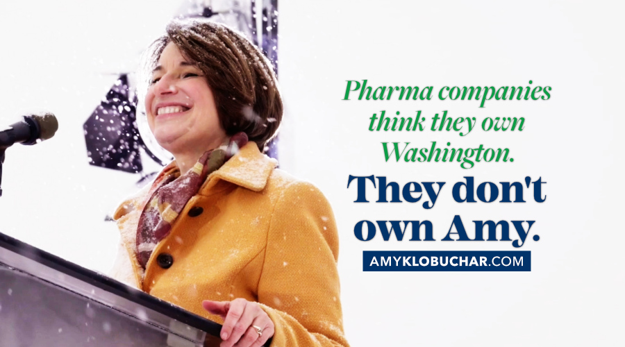 Prescription drug prices are out of control. We need to stand up to the pharmaceutical companies and bring costs down.