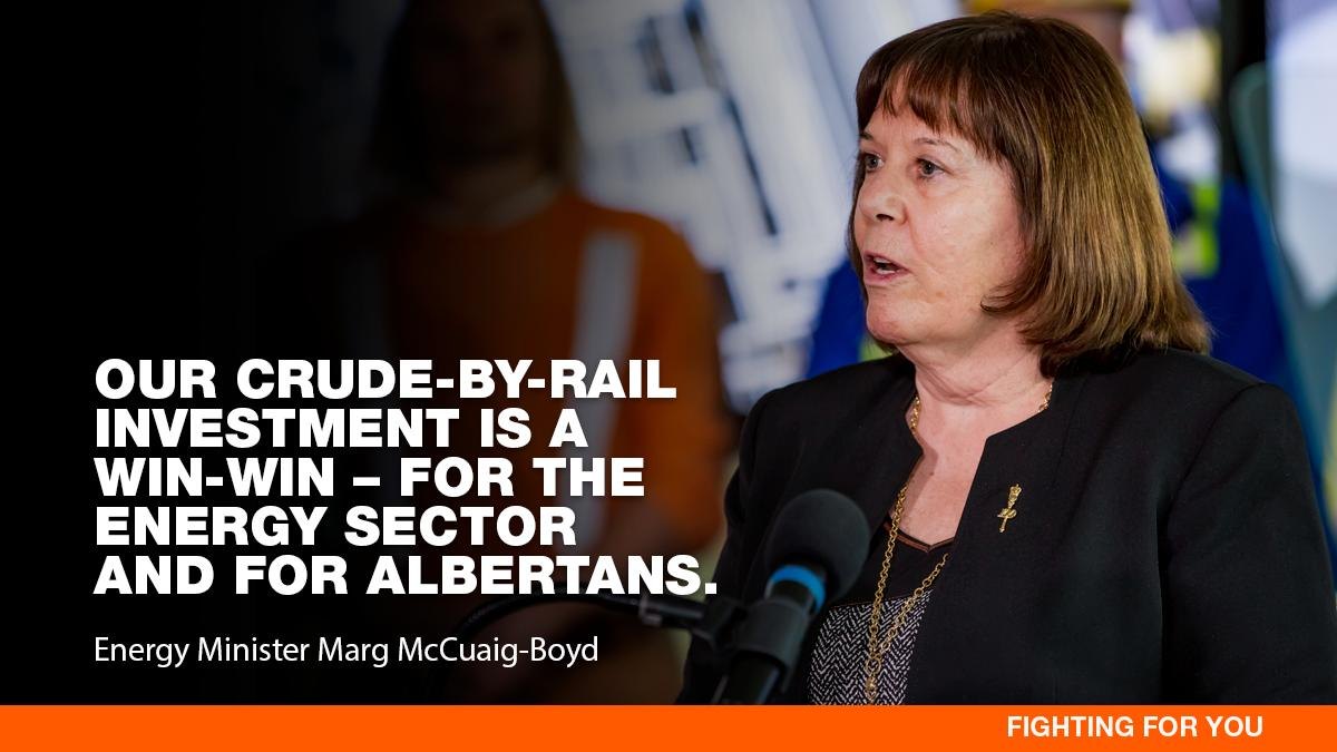 Every Albertan deserves a higher price for the resources we own. Moving more oil by rail does that.  Very disappointing to see Jason Kenney try to score short-term points - attempting to scuttle this deal & putting himself ahead of the interest of Albertans. #ableg #MadeInAlberta