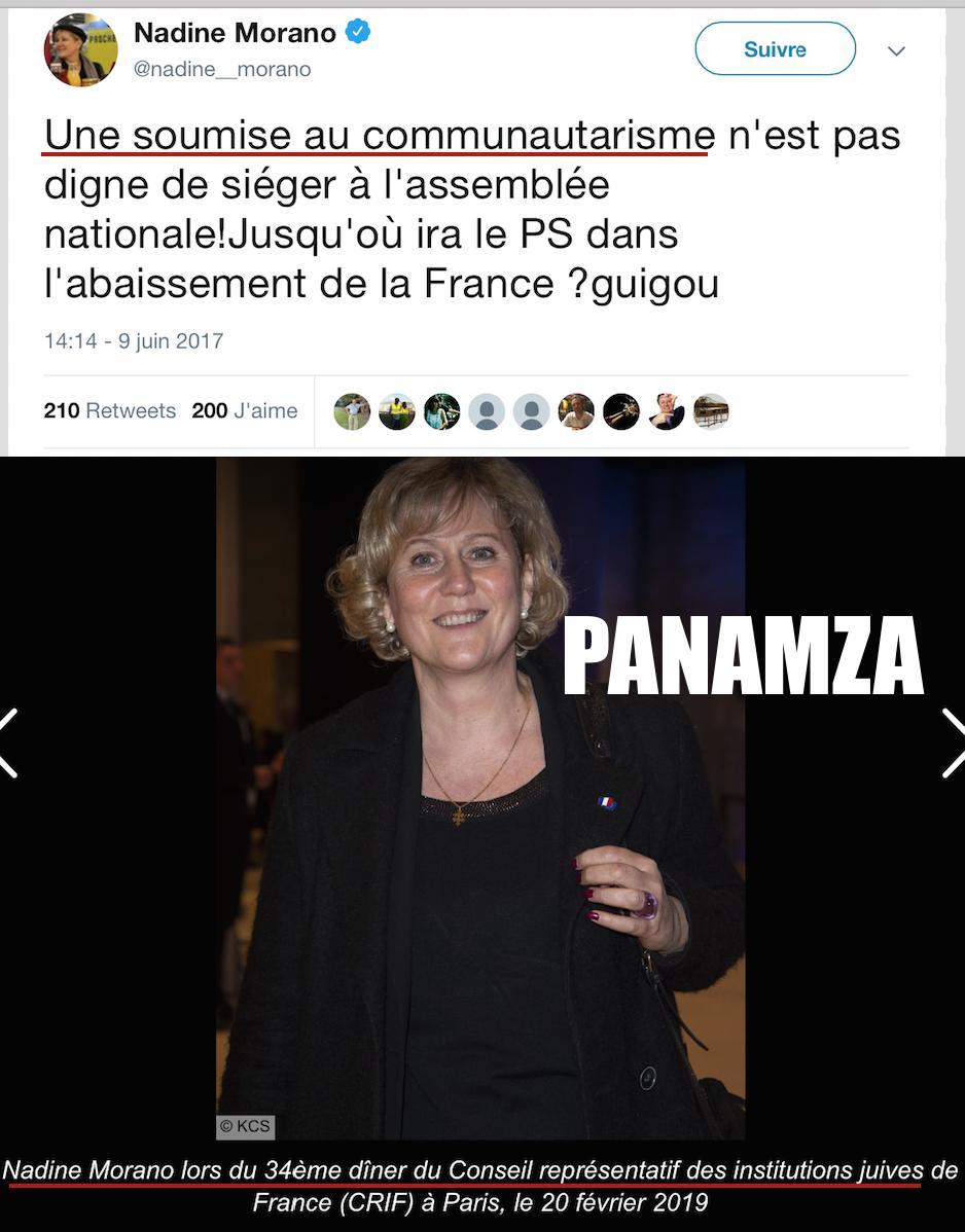 Le «communautarisme» et Nadine Morano : sans commentaire... 😏