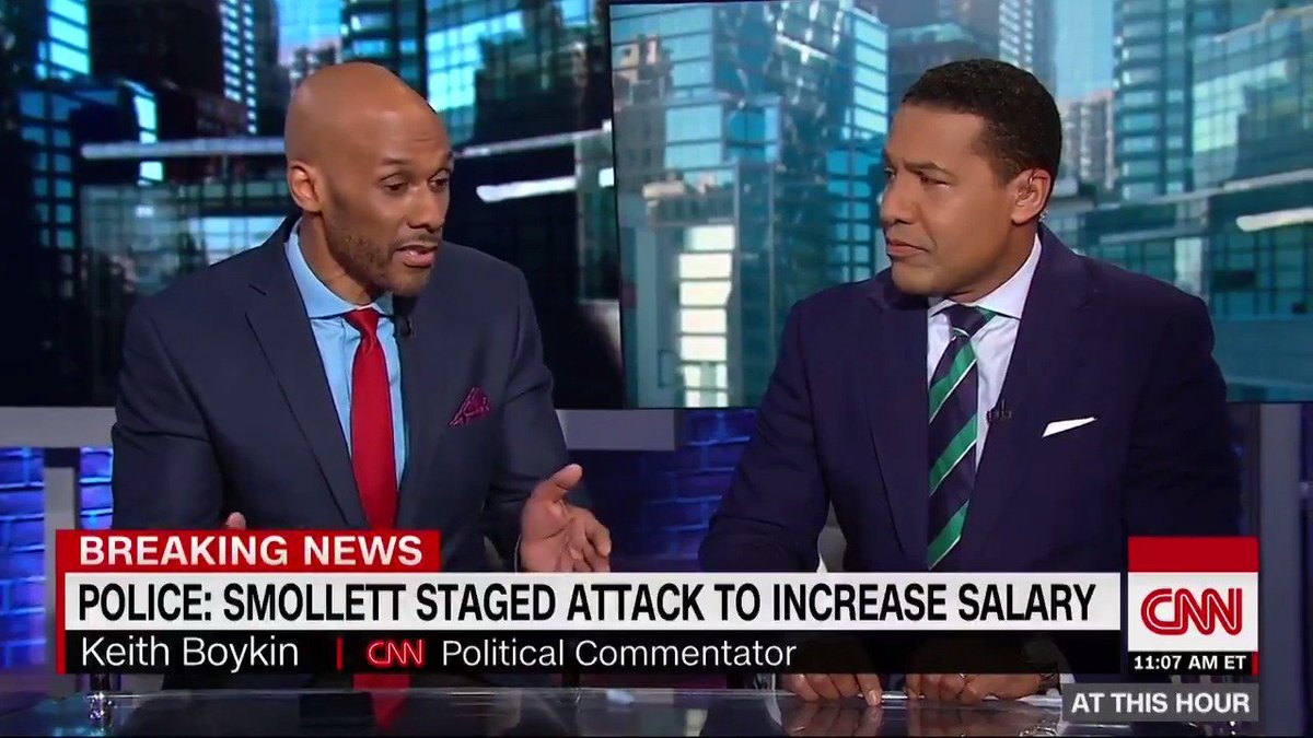""".@keithboykin, who has known Jussie Smollett for 8 years, says the case """"is not something [the black gay community] wants and needs ... we don't need a distraction like this right now"""" and focus should be placed on black LGBTQ violence and hate crimes https://cnn.it/2XgxwF5"""
