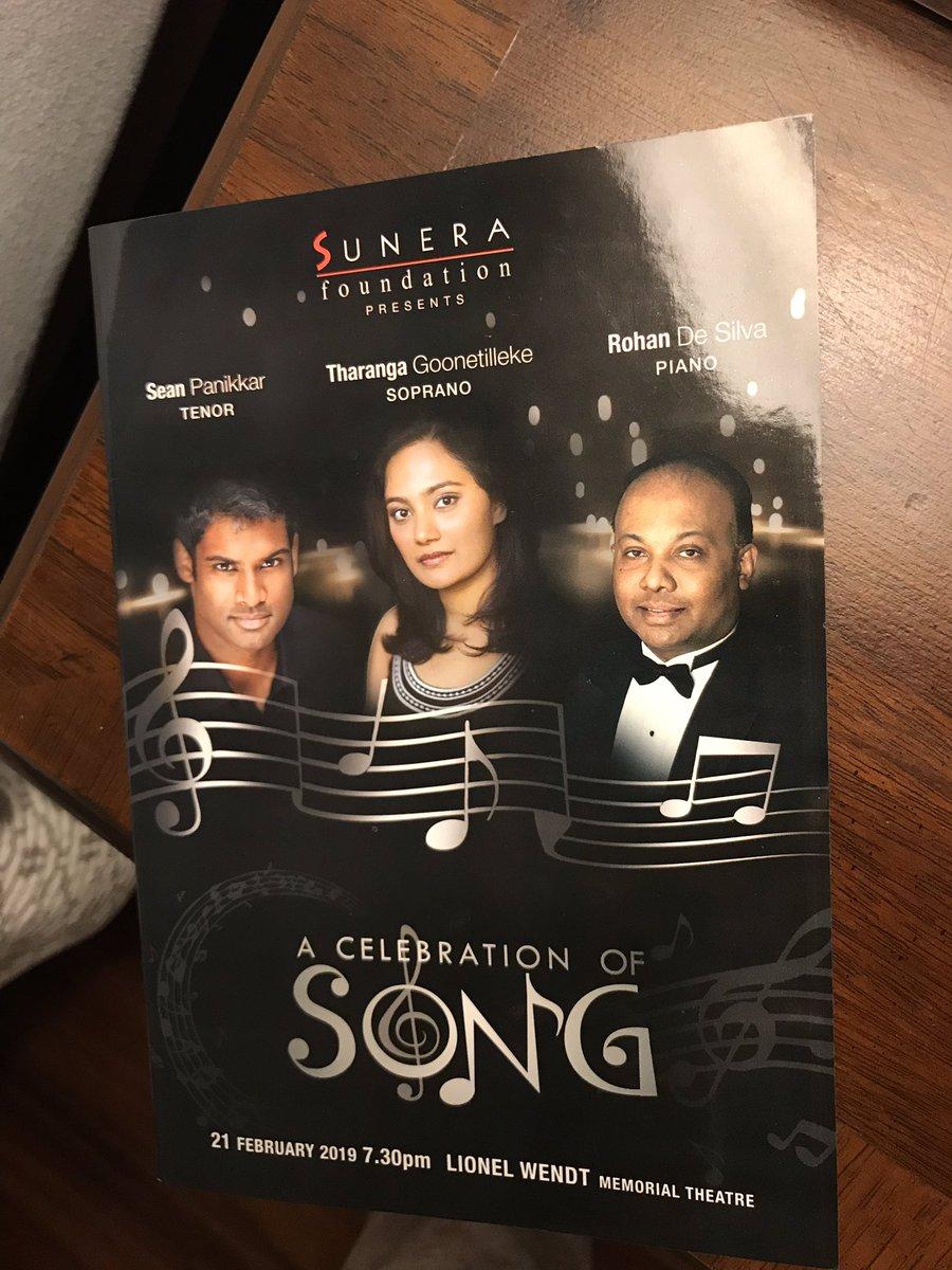 Enjoyed marvelous performances by renowned SL pianist Rohan De Silva, SL soprano Tharanga Goonetilleke & American tenor @seanpanikkar tonight at charity benefit concert.  Awesome #USASLFriendship!