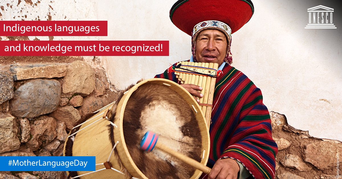 96% of the world's approximately 6,700 languages are spoken by only 3 % of the world's population.  We must preserve the differences in cultures and languages to foster tolerance and respect for others. #IndigenousLanguages https://t.co/ki3DqPASk0  #MotherLanguageDay