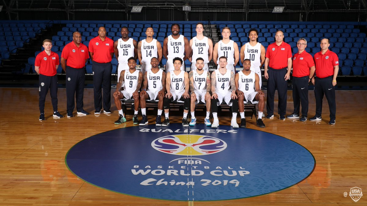 📸 Looking clean! Official team shot of our squad for the final @FIBAWC Qualifiers.