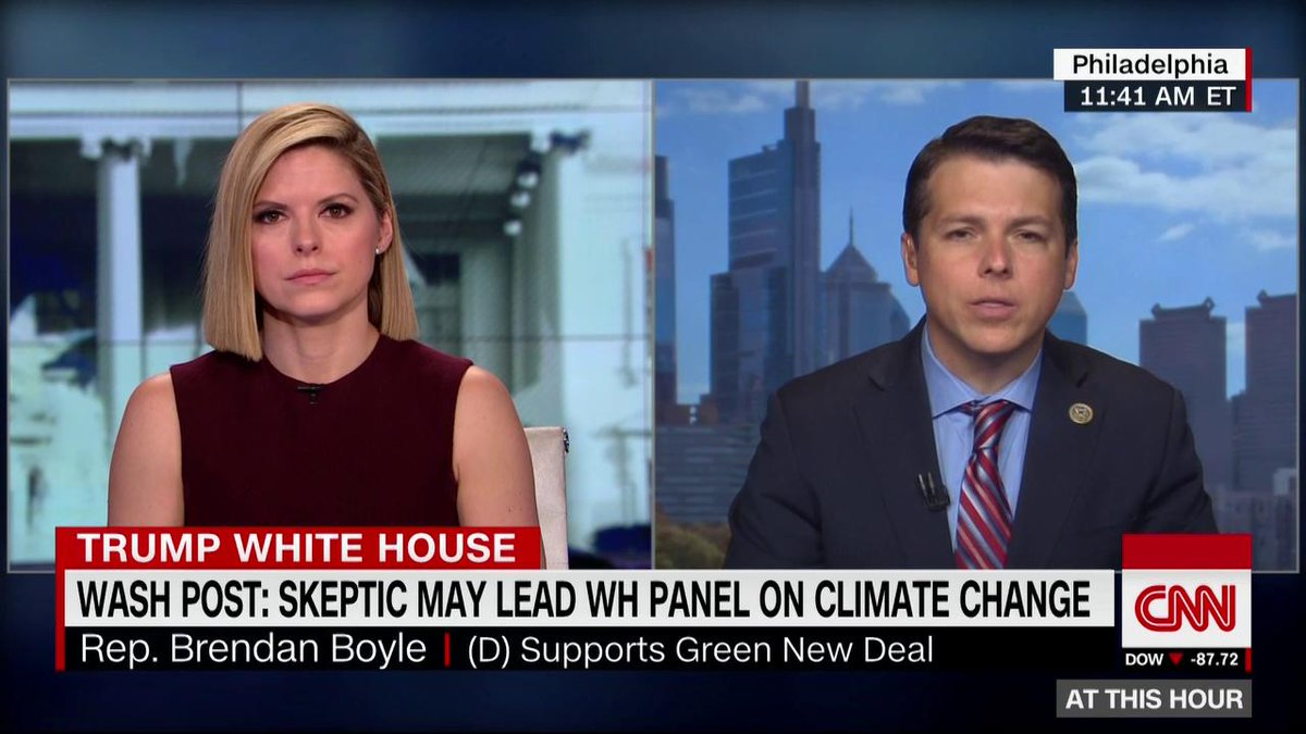"""The Washington Post reports that a climate skeptic may lead a proposed WH committee to study climate change and national security.  """"The actions that we've seen from this administration have been hostile toward addressing climate change,"""" @CongBoyle says. https://cnn.it/2U73x0x"""