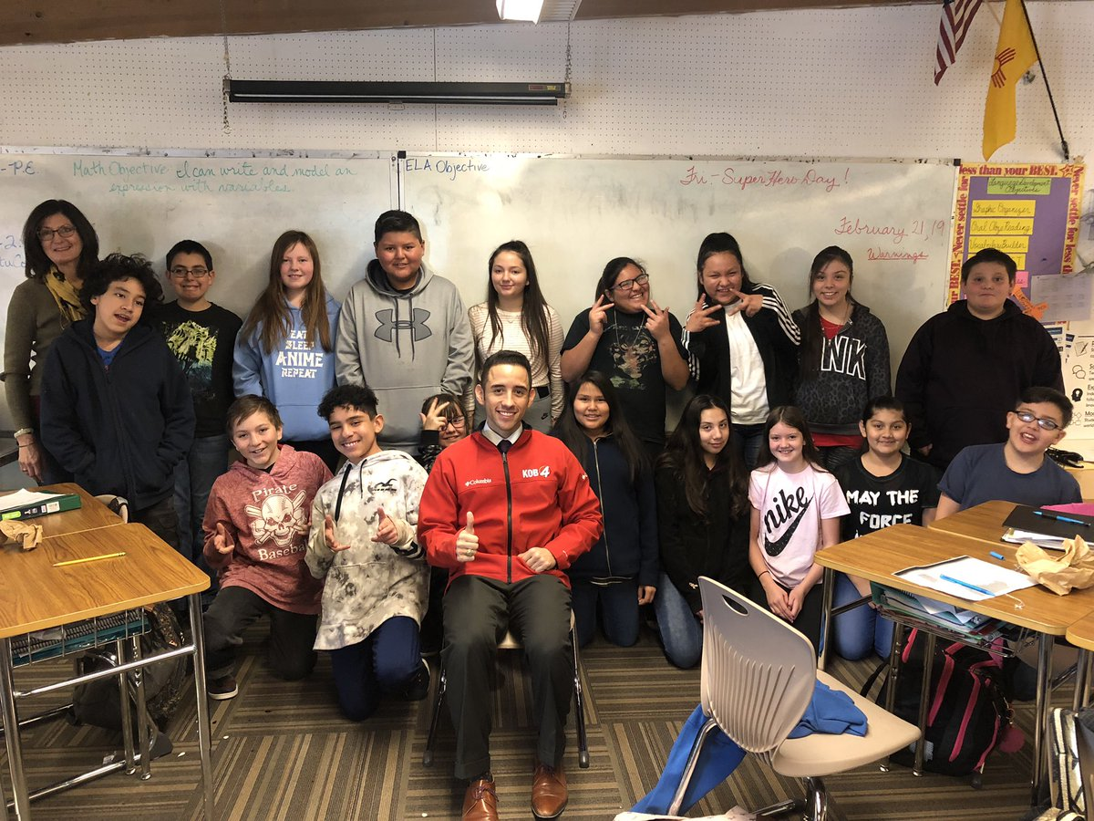 Thanks to the 6th Graders at Mesa View ES in Grants for inviting me to talk weather! #nmwx #STEM