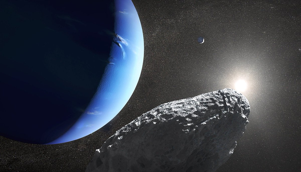 Well, that's one way to make a moon of Neptune: Start with a bigger one and then whack it HARD with a comet.   https://t.co/Nj6oXtFsIX
