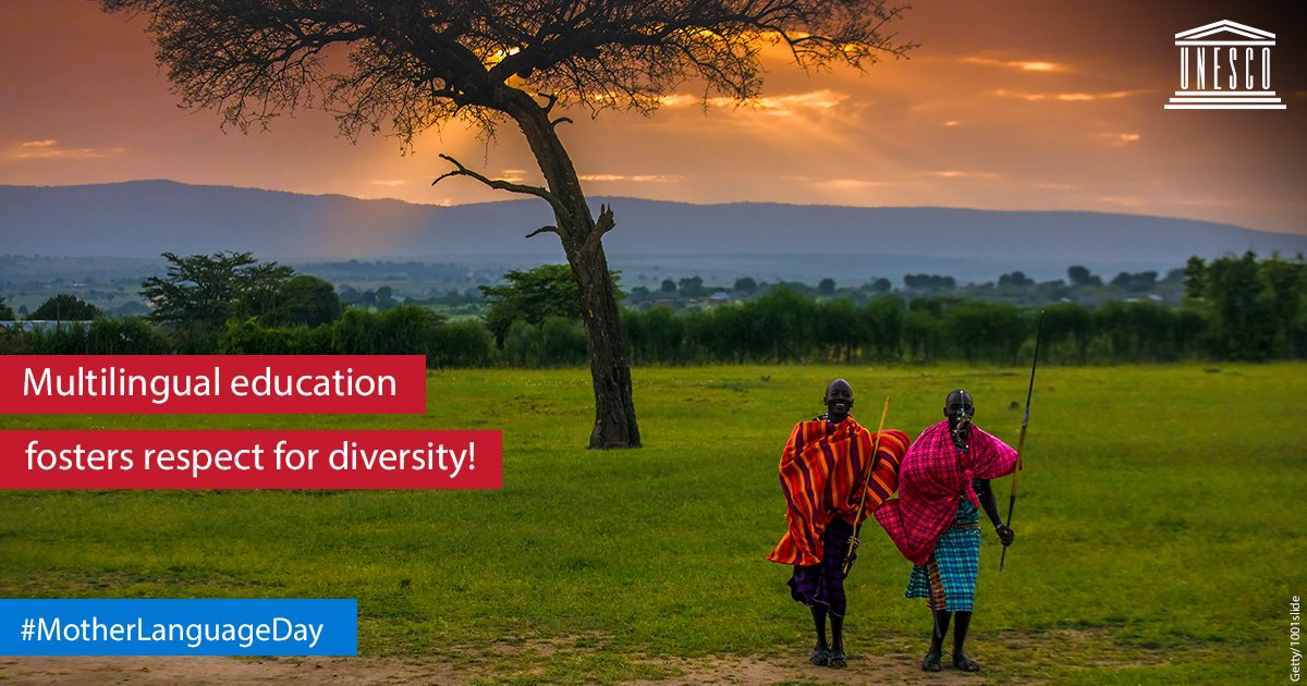Multilingual education based on the mother tongue plays a key role in fostering respect for diversity! Do you agree?   https://t.co/ki3DqPASk0 #MotherLanguageDay  #IndigenousLanguages