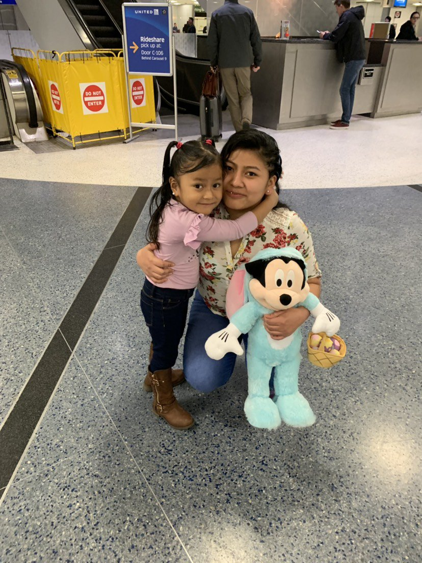 YAAAYYYYYYYY!!! They're back together!   9 months is an incredibly long time to be away from your daughter.  Potentially 1000s of families are still separated on the basis that kept Sara separated.  Sara wanted us to say THANK YOU to all of you who support her family.