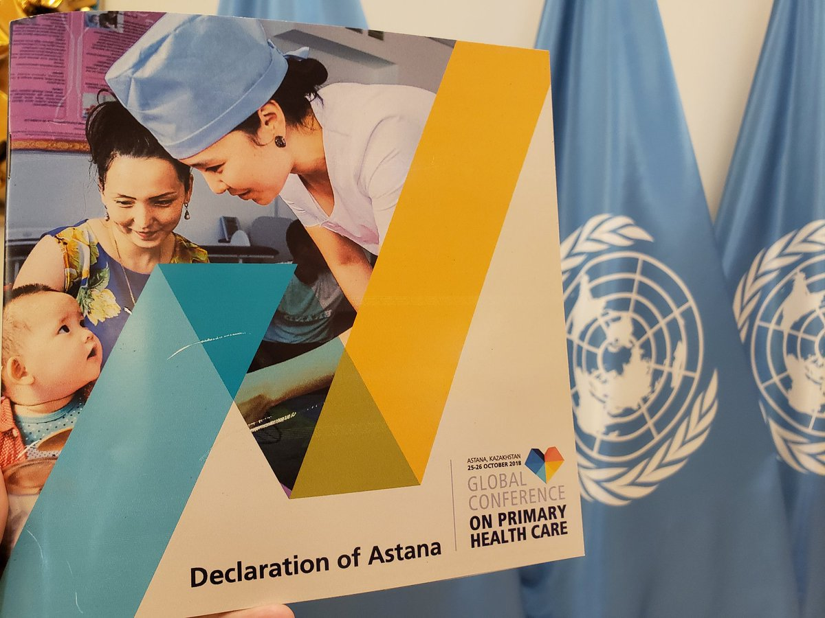 Have you heard about the Declaration of #Astana (on Primary Health Care)? https://www.who.int/docs/default-source/primary-health/declaration/gcphc-declaration.pdf…  if not, you should, as half of the world's population has not access to health care #SDG3 #HealthForAll