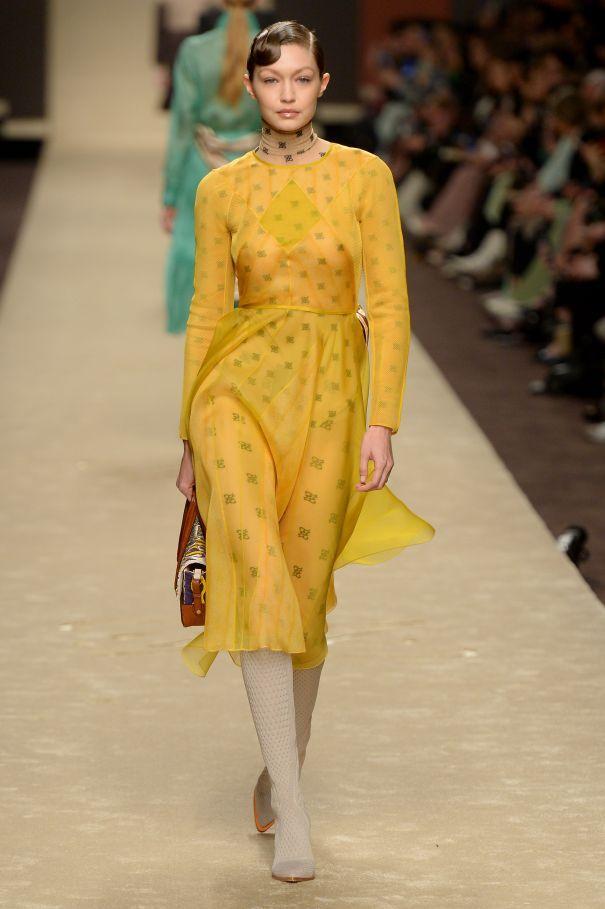 .@GiGiHadid closes the Fendi fashion show at #MFW, plus more star spotting https://t.co/foN49BGhaA