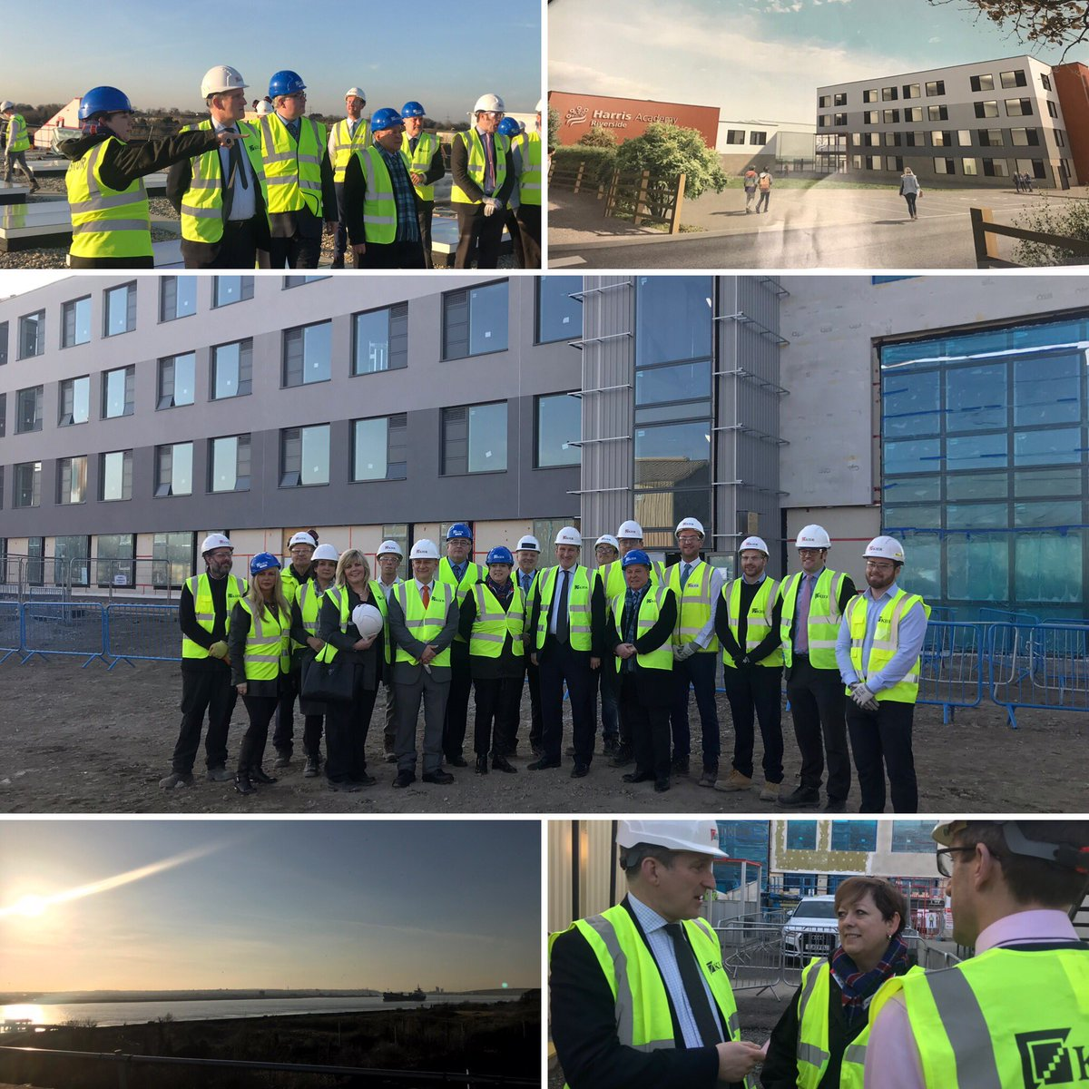 A beautiful afternoon in Purfleet today with the brilliant @JackieDP at the impressive new school building going up to house @theHARIacademy. We will deliver a million more school places this decade - the largest increase in 2 generations