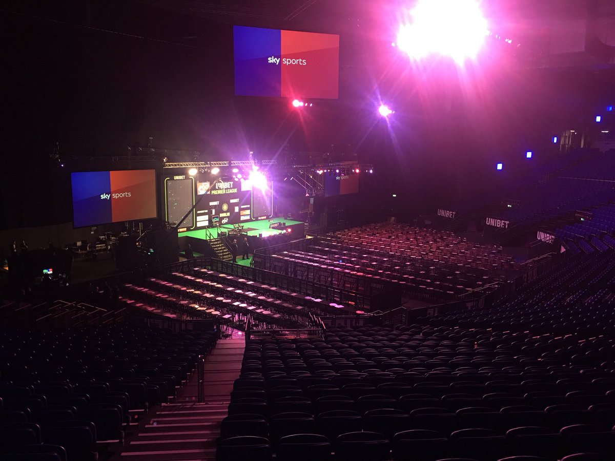 🇮🇪🎯It's almost time for Night Three of the Premier League🎯🇮🇪  This place will be rocking in a few hours! Who are you most looking forward to seeing on the Dublin stage? 🤔