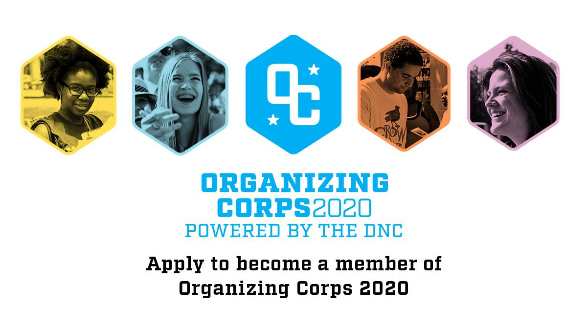 Big news: Today, we're proud to launch @orgcorps2020, a program to recruit and train hundreds of college juniors to help elect a Democratic president in 2020. Learn more: http://www.organizingcorps2020.com