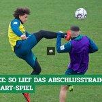 Image for the Tweet beginning: Das war die letzte #Werder-Einheit