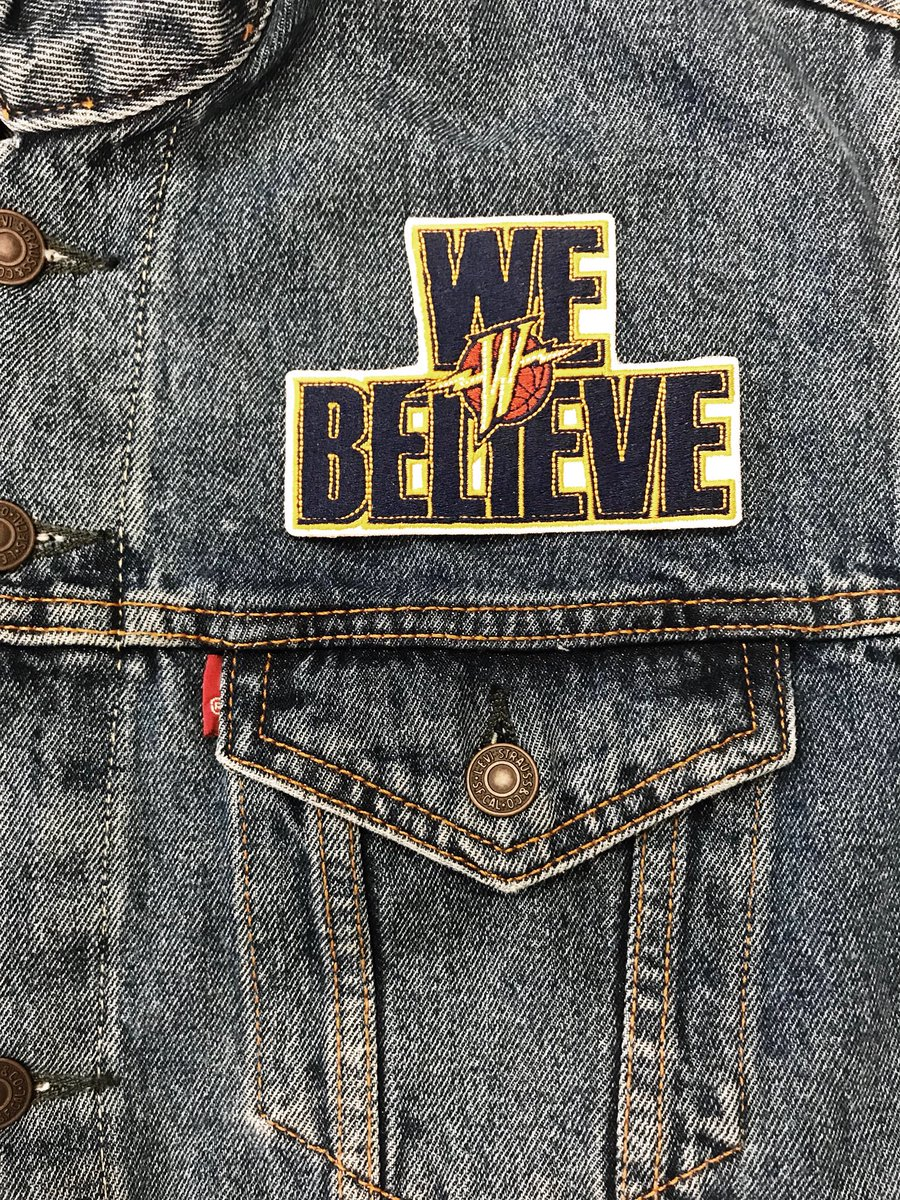 Heading to Oracle tonight? Stop by the main concourse at Section 118 to get your custom #Levi's @warriors 00's jacket.