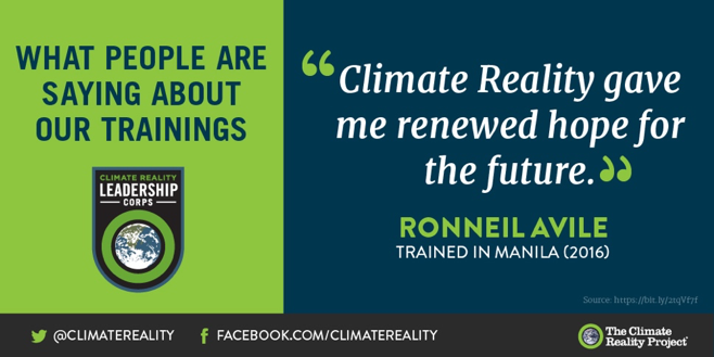 One of the most important lessons you'll pick up at our trainings – that if we work together we can beat this thing https://t.co/7AvESkory1  #ClimateHope