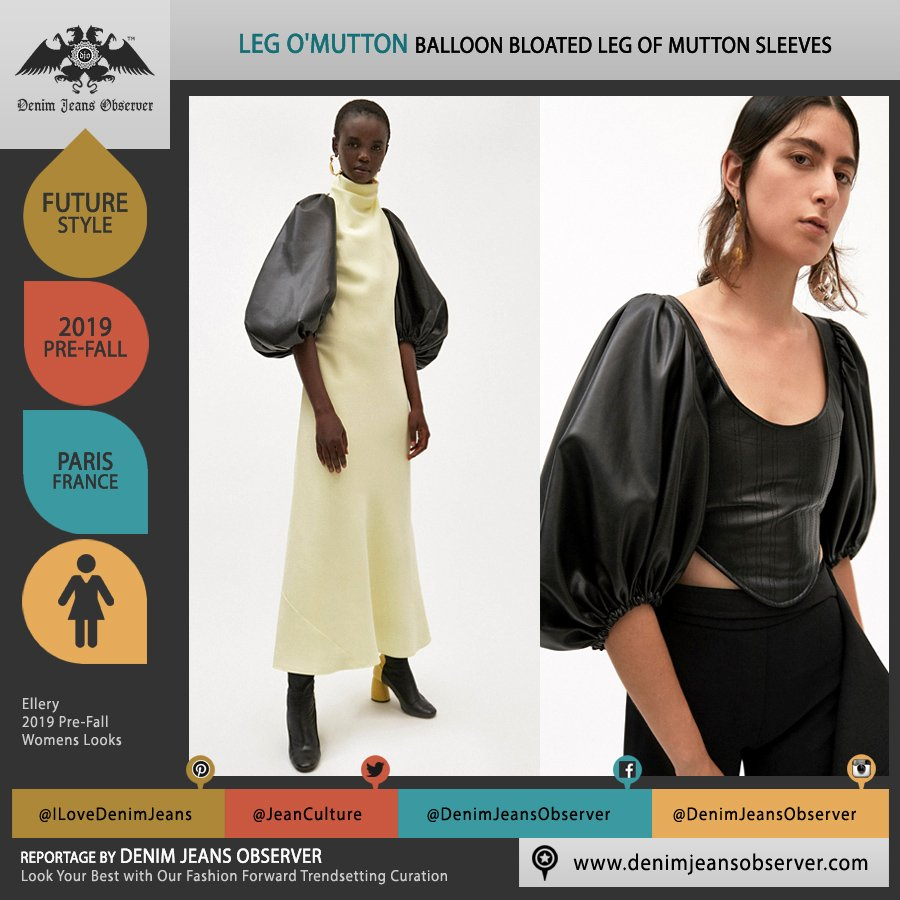 Ellery 2019 Pre-Fall Autumn Womens Lookbook Presentation - Amish Conservatism 1970s Free Love Leg O'Mutton Balloon Bloated Sleeves Dress Crop Top Scoop Neck Turtleneck Amish Conservatism  - Fashion Forward Trendsetting Curation by Denim Jeans Observer