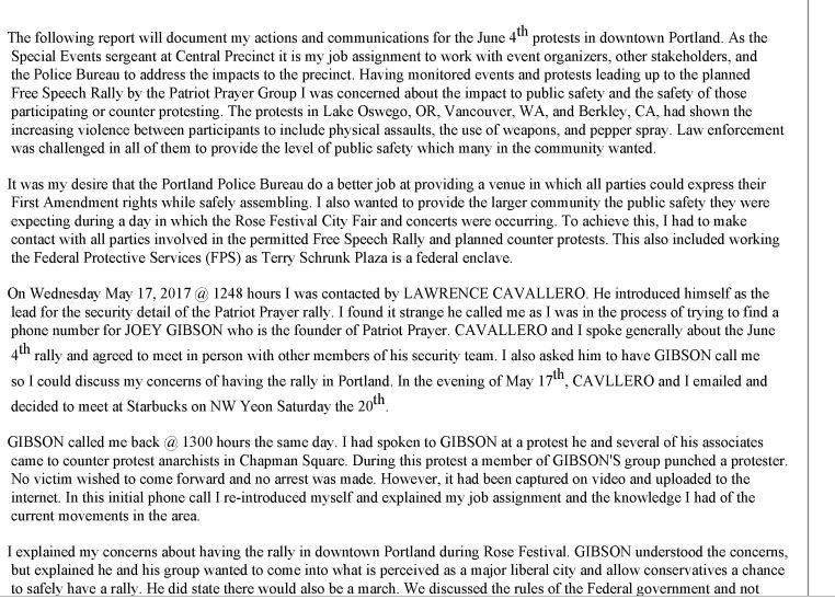 Portland Police release new documents ahead of listening session about Joey Gibson texts: https://t.co/JjZ8lYioLV