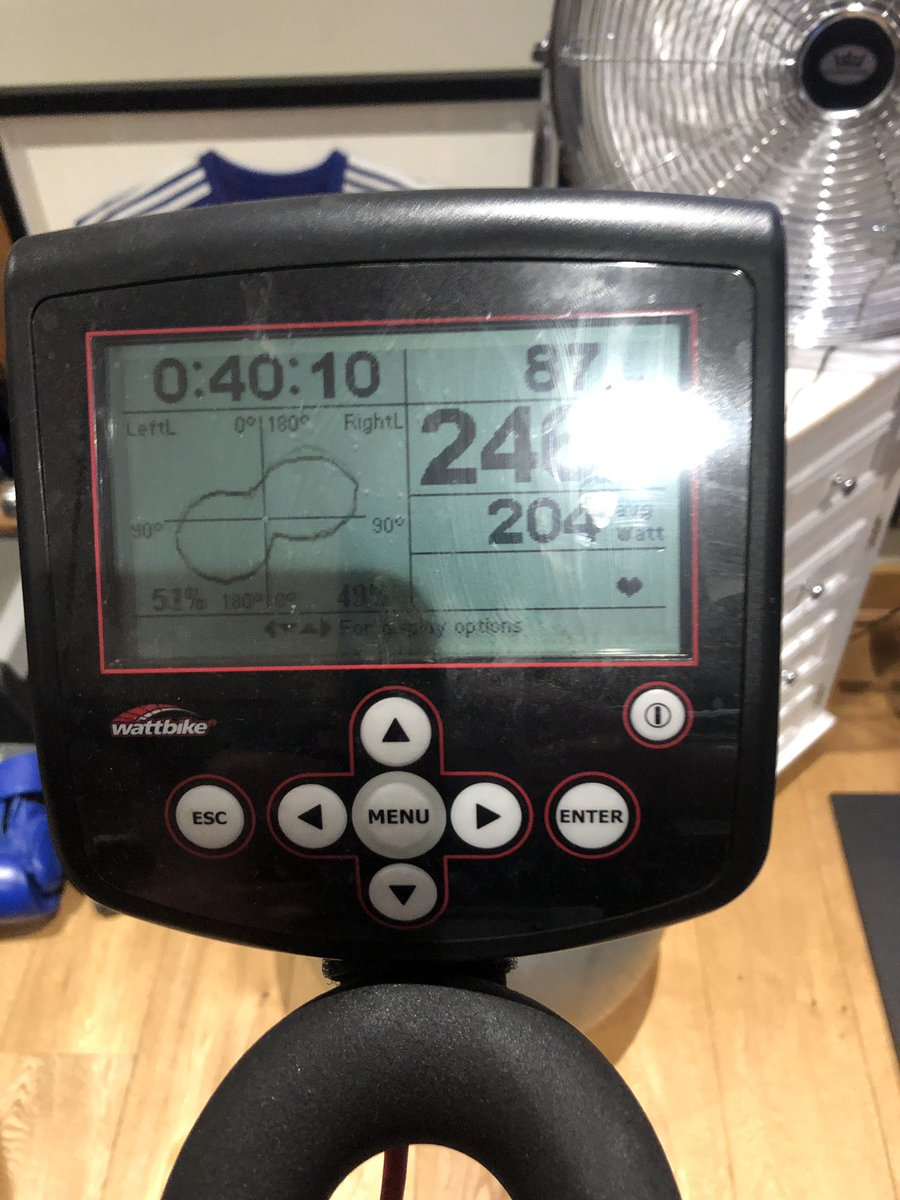 @Murphy6687 Done 40 minutes on the Turbo Trainer earlier, over 200 average watts, felt good, I don't need those electric bikes with batteries like @RickyCollard to power me up the hills !!  #oldschool #lightweight