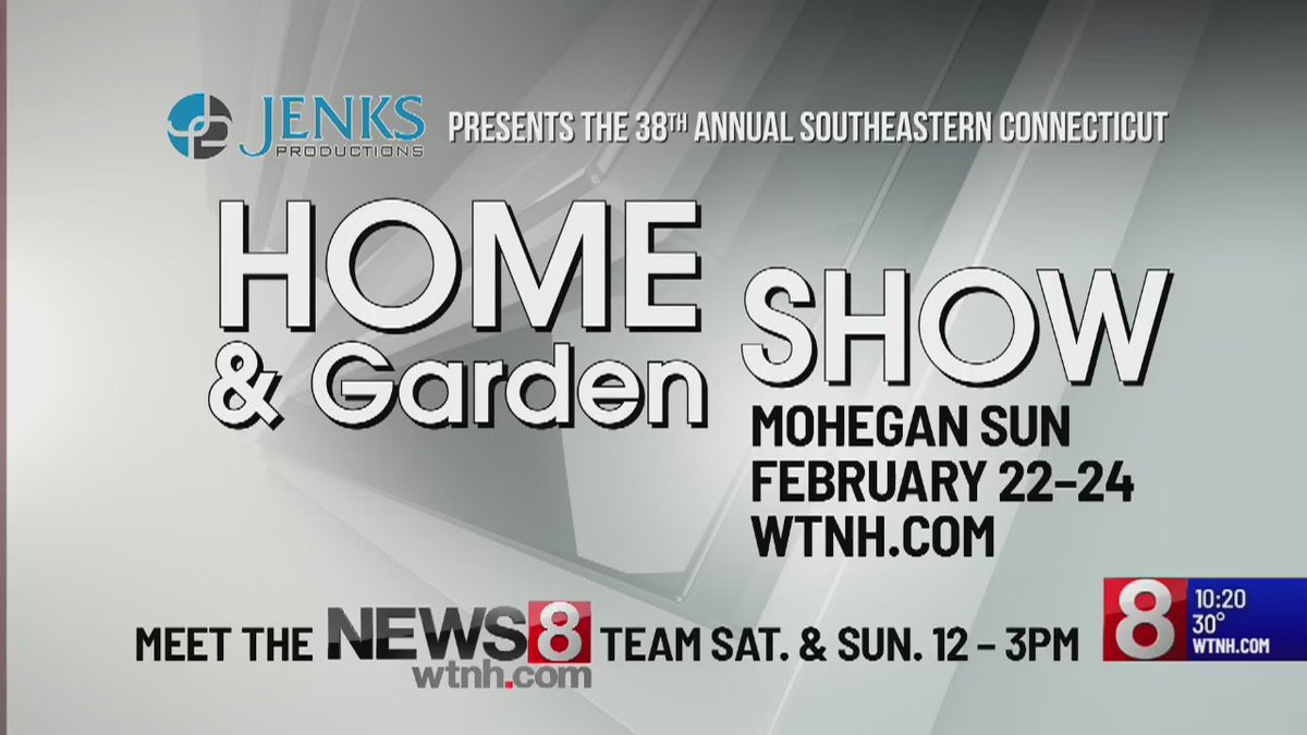 The 38th Annual Southeastern Connecticut Home & Garden Show is happening at @MoheganSun this weekend! Come out to say hi to the News 8 team on Saturday and Sunday from noon to 3:00 p.m.