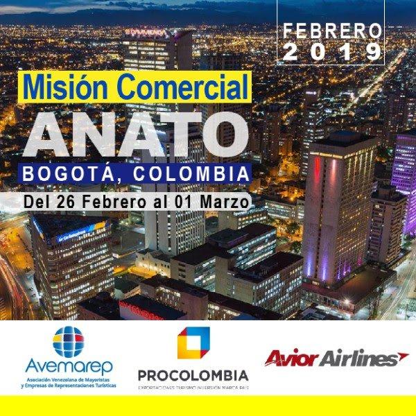 MISIÓN COMERCIAL #ANATO 2019  * 26 de febrero al 1 de marzo * #Bogotá, Colombia http://www.avemarep.com  informacion@avemarep.com  #Avior #Marriott #Procolombia #turismo #Venezuela @Avemarep
