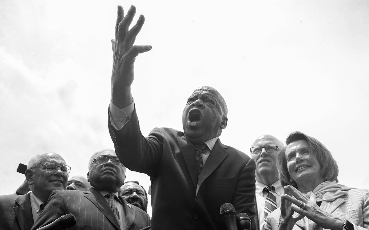 Wishing a happy birthday to @repjohnlewis. Thank you for all that you continue to do to effect change in America & inspire others to join the fight for a better future!