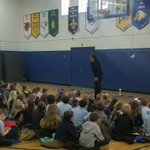 Image for the Tweet beginning: At assembly today, K-5 learned