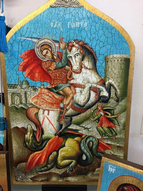Saint George à la main peint Unique icône avec argent Sterling métal détails 40x55cm taille env. https://etsy.me/2IwxO7s via @Etsy @StElisabeth_cvt @H2H_news @Zastrognyi_K @CStElizabeth @eevriviades @ByzantineLegacy @StElisabeth_cvt @Baluinkognito @Milos1389Obilic @OrthodoxUSA