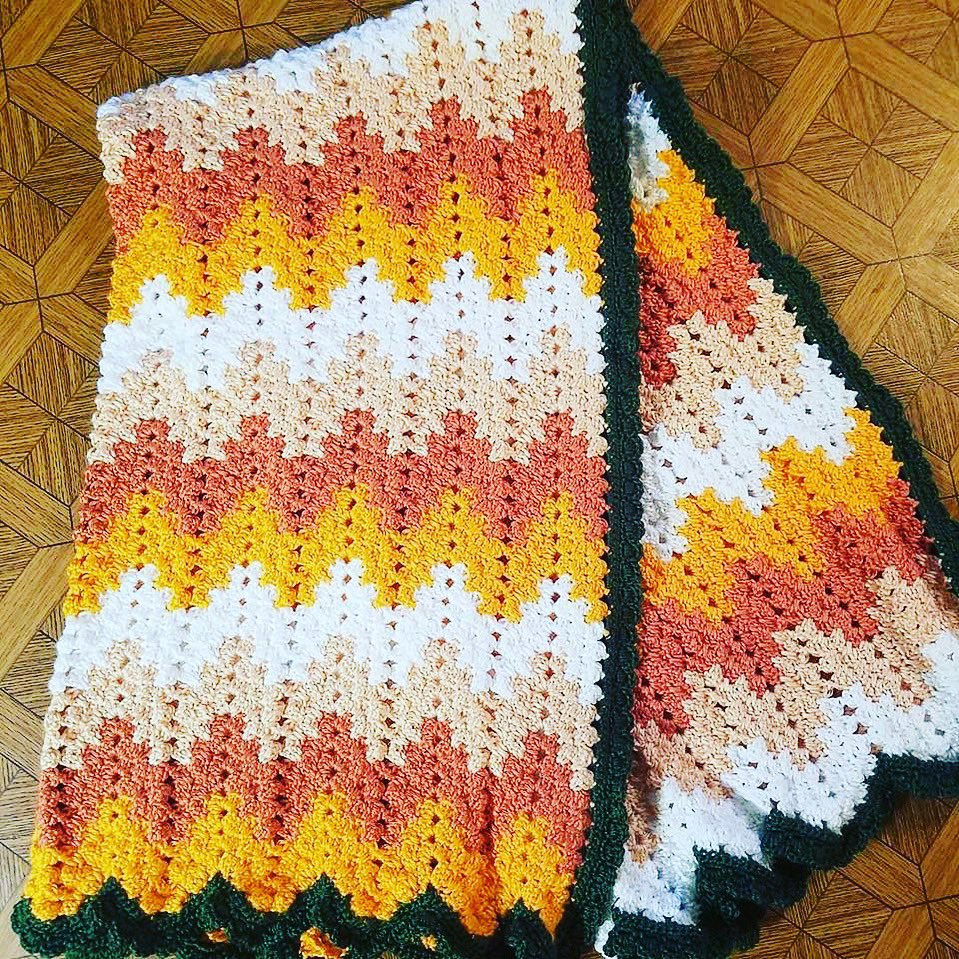 Granny Ripple Spike Blanket.  Available to purchase. Will ship. Accept PayPay. Sassys Country Crafts <br>http://pic.twitter.com/BDYp2Oet5h