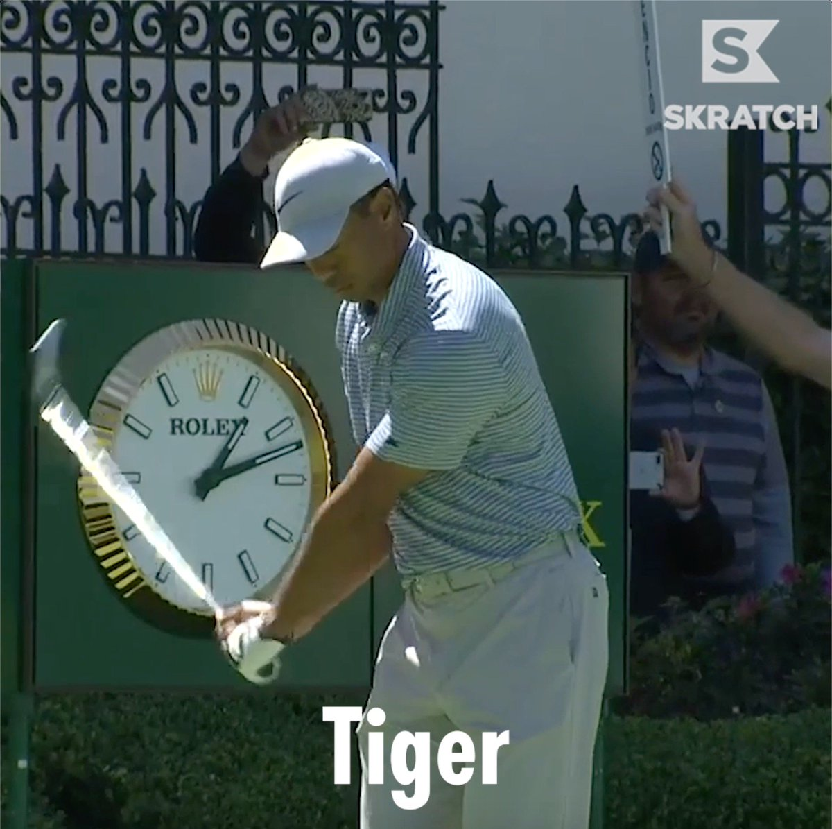 Tiger Woods' first-tee introduction was a sight to behold. His tee-shot, not so much