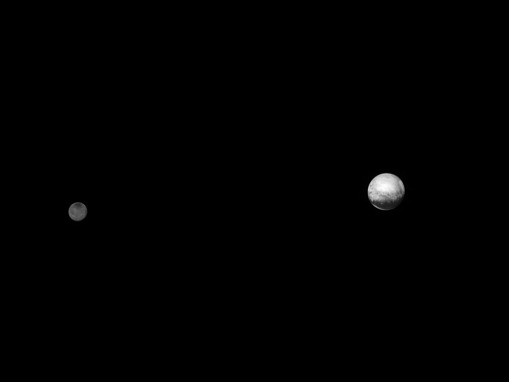 If you said Pluto and its moon Charon, you're right! 👏   Things got a bit clearer when @NASANewHorizons  took this photo of Charon and Pluto on July 8, 2015, from 3.7 million miles a way.